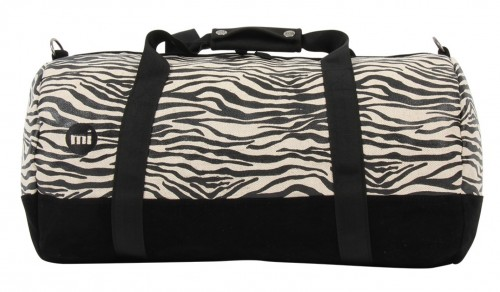 Bolsa Mi-Pac Duffel Canvas Zebra Black White