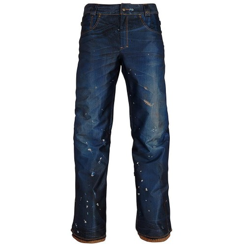 Pantalones de snowboard 686 Deconstructed Denim Insulated Pant Dark Denim Sublimation