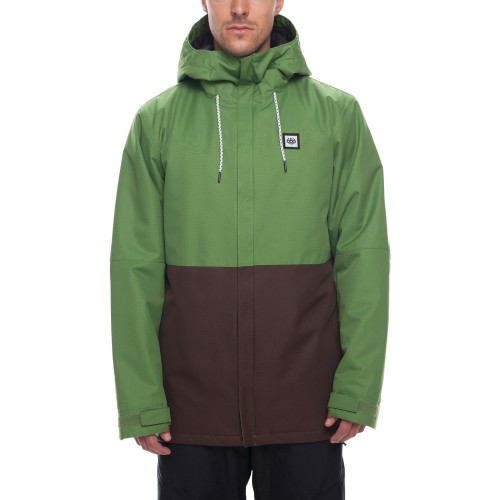 Chaqueta de snowboard 686 Foundation Insulated Jacket Camp Green Colorblock