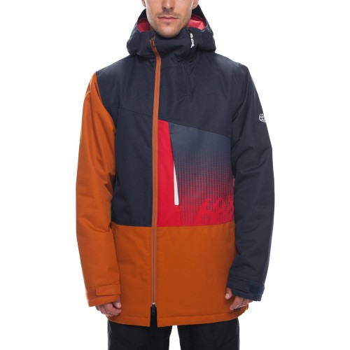 Chaqueta de snowboard 686 Icon Insulated Jacket Navy Colorblock