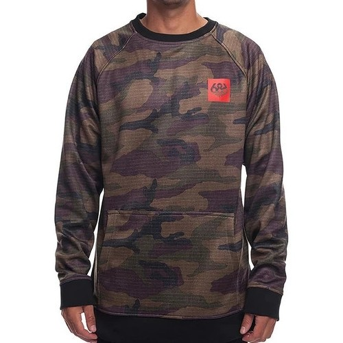 686 Knockout Bonded Fleece Crew Dark Camo