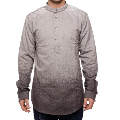 Camisa Anerkjendt Renjan LS Steel Grey Mel