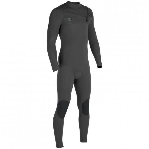 Vissla Seven Seas 4/3 Full Suit Chest Zip Charcoal