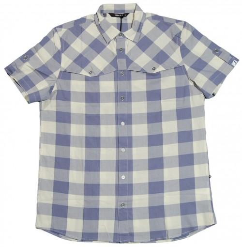 Camisa Makia Herringbone Check Blue