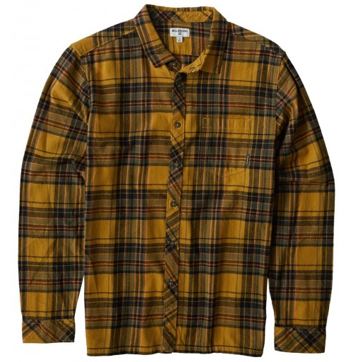Camisa Billabong Coastline Flannel Shirt Gold