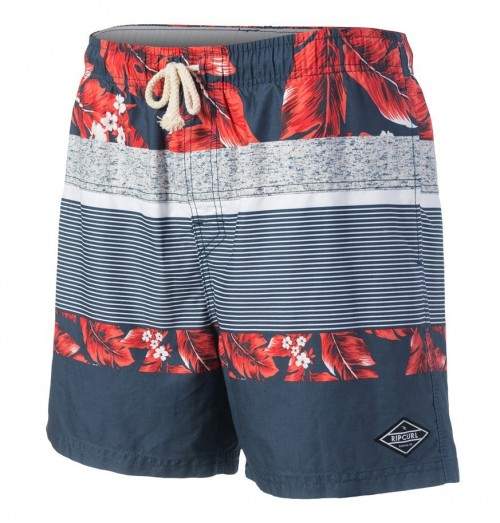 "Bañador Rip Curl Volley Stripe Flower 16"" Navy"