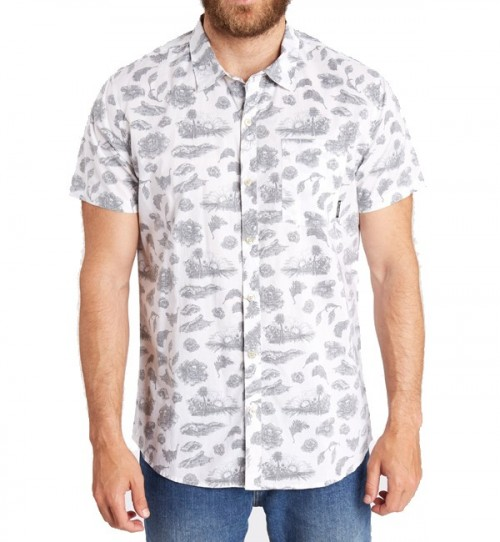 Camisa Billabong Dark Sunrise SS Shirt White