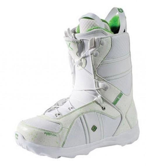 Botas de snowboard Rome Bastille Pureflex White-Grass Green