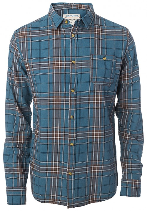 Camisa Rip Curl Faded Check Shirt Indian Teal