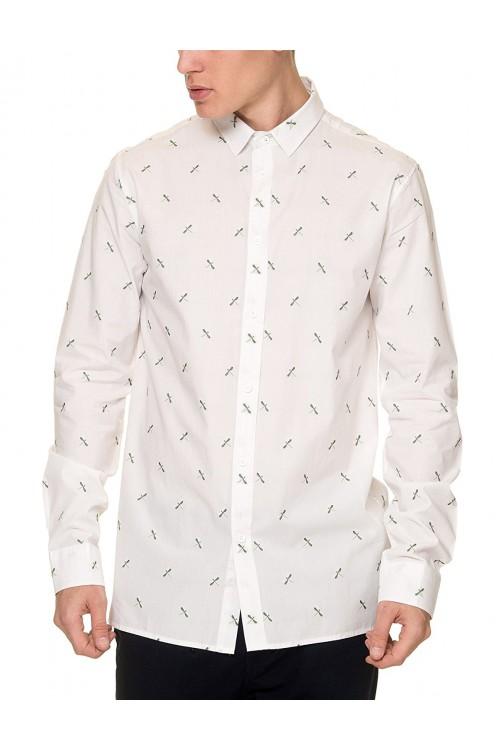 Camisa Anerkjendt Louis LS White
